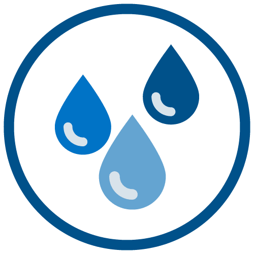 three water droplets icon